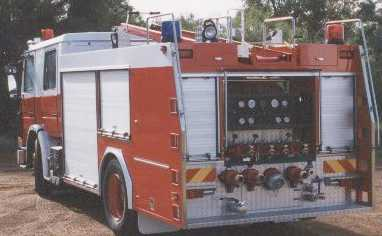 Rear mount Scania medium pumper information
