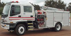 Isuzu midship Medium pumper
